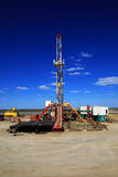 Oil Rig. On blue sky Royalty Free Stock Image