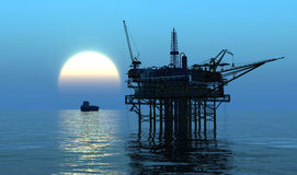Oil Rig Royalty Free Stock Images