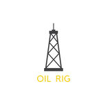Oil rig abstract simple vector design. Template Royalty Free Stock Photos