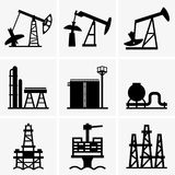 Oil Rig And Refinery Royalty Free Stock Images