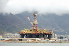 Oil Rig - Cape Town - South Africa. Oil Rig in Cape Town - South Africa stock photos