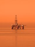 Oil rig in the Caspian Sea royalty free stock photos