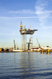Oil Rig Construction Royalty Free Stock Photo