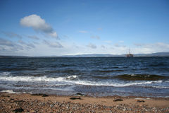 Oil rig in Cromarty Firth Royalty Free Stock Photo