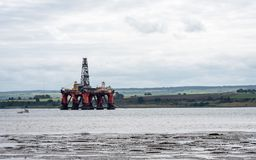 Oil Rig, Cromarty Firth, Scotland stock image