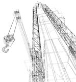 Oil rig. Detailed vector illustration Stock Photos