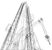 Oil rig. Detailed vector illustration Stock Photo