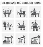 Oil rig royalty free illustration
