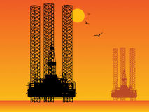 Oil Rig Drilling Platforms. Sea Oil Rig Drilling Platforms Royalty Free Stock Photo