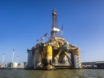 Oil rig in Esbjerg harbor, Denmark Stock Images