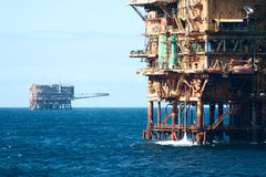 Oil rig field  Royalty Free Stock Photo