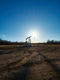 Oil rig in the field Stock Image