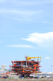 Oil rig on ground, Energy Industrial. Royalty Free Stock Images