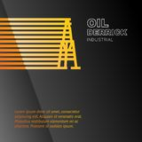 Oil rig icon. Stock Images