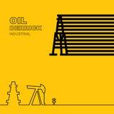 Oil rig icon Stock Image