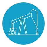 Oil rig icon in thin line style Royalty Free Stock Photos