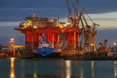 Oil Rig In The Yards Royalty Free Stock Images