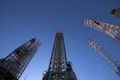Oil rig legs Stock Photos