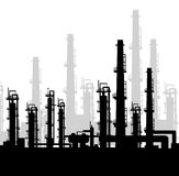 Oil Rig at morning -vector Royalty Free Stock Image