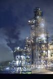 Oil rig at night Royalty Free Stock Image