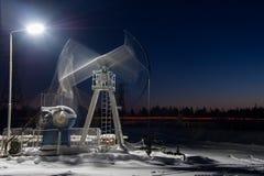 Oil Rig at night. Royalty Free Stock Photos