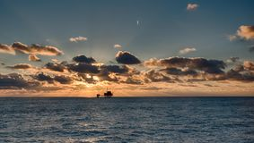 Oil Rig in North Sea Royalty Free Stock Images
