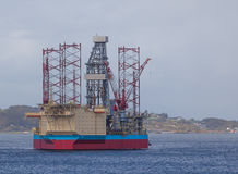 Oil rig in north sea Stock Photos
