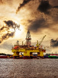 Oil rig in Norway Stock Photo
