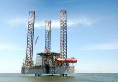 Oil rig. Off Shore Oil Rig Drilling Platform Stock Photography