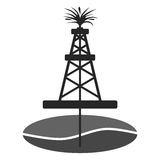 Oil rig, Oil Gusher sticker icon Stock Photo