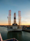 Oil rig Paragon C463 in the port of IJmuiden Royalty Free Stock Photography