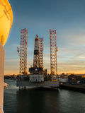 Oil rig Paragon C463 in the port of IJmuiden Royalty Free Stock Photos