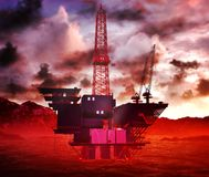 Oil rig  platform Stock Photography
