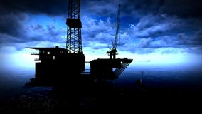 Oil rig  platform. In arctic sea Royalty Free Stock Photos