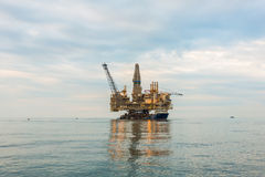 Oil rig platform Stock Images