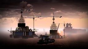 Oil rig  platform Royalty Free Stock Photo