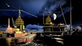 Oil rig  platform Stock Images