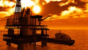 Oil rig  platform Royalty Free Stock Photography