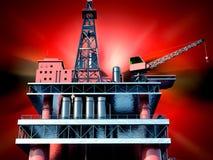 Oil rig  platform Royalty Free Stock Images