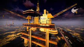 Oil rig  platform Royalty Free Stock Photo