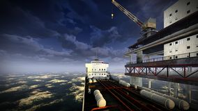 Oil rig  platform Royalty Free Stock Photos