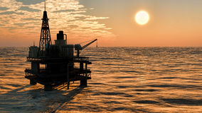 Oil rig  platform Royalty Free Stock Image
