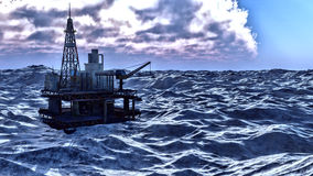 Oil rig  platform Royalty Free Stock Images