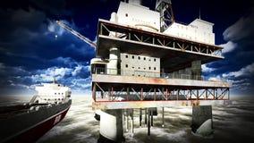 Oil rig  platform Royalty Free Stock Photos