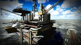 Oil rig  platform Stock Photo