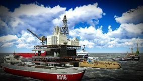 Oil rig  platform Stock Image