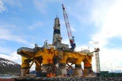 Oil rig. The Polar Pioneer oil drilling rig docked in Tromsø, Norway Stock Image