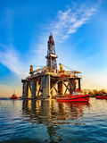 Oil Rig in port Royalty Free Stock Images