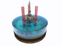 Oil Rig Stock Photography