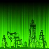 Oil rig and pump Royalty Free Stock Photo